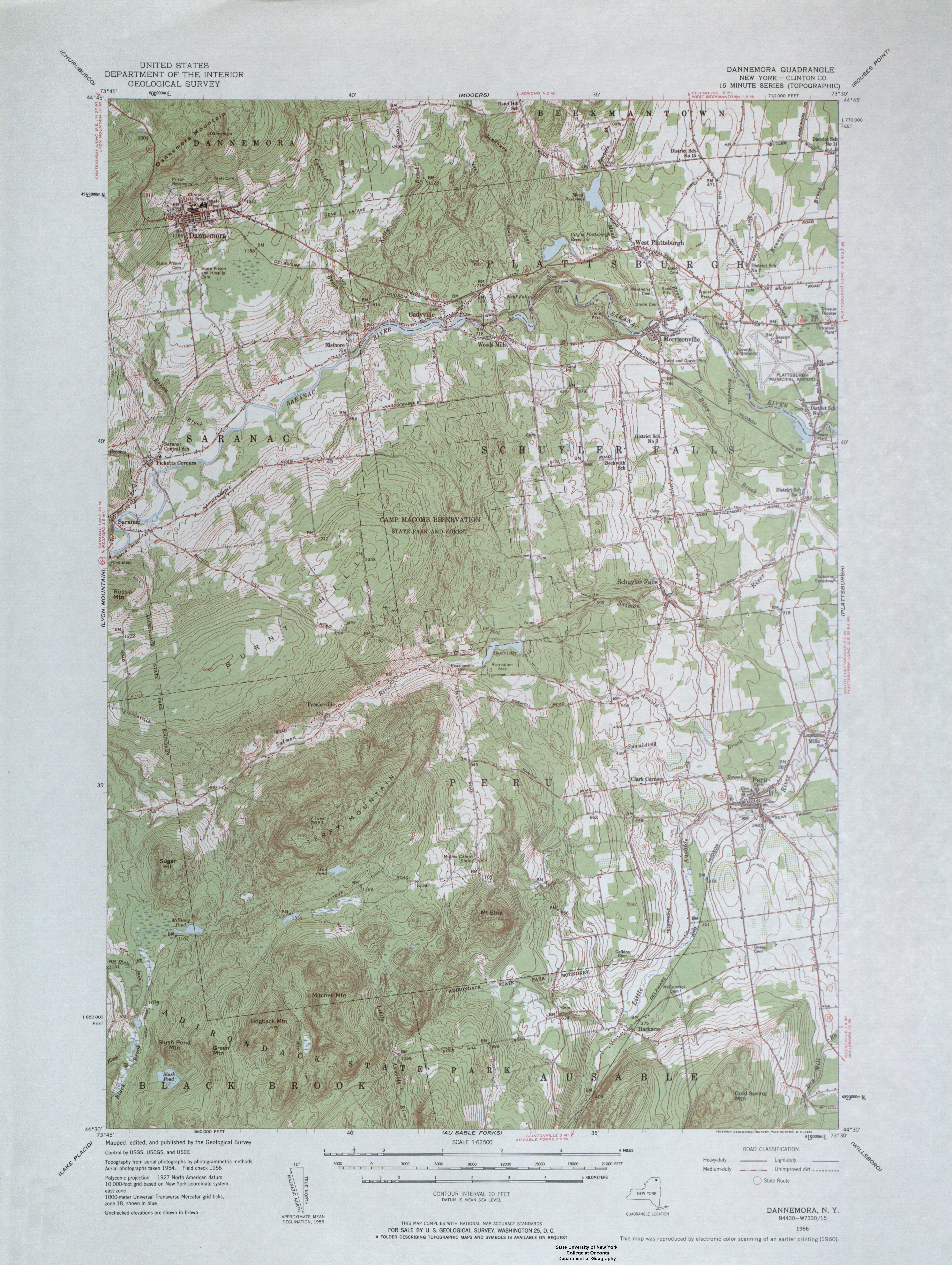 Map Of New York Dannemora.Dannemora Ny Quadrangle