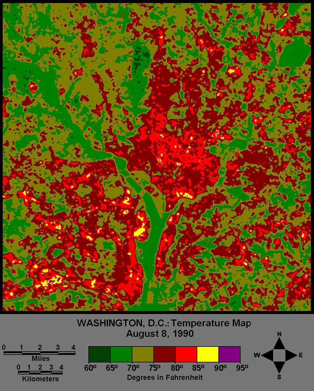 An Urban Heat Island Washington D C