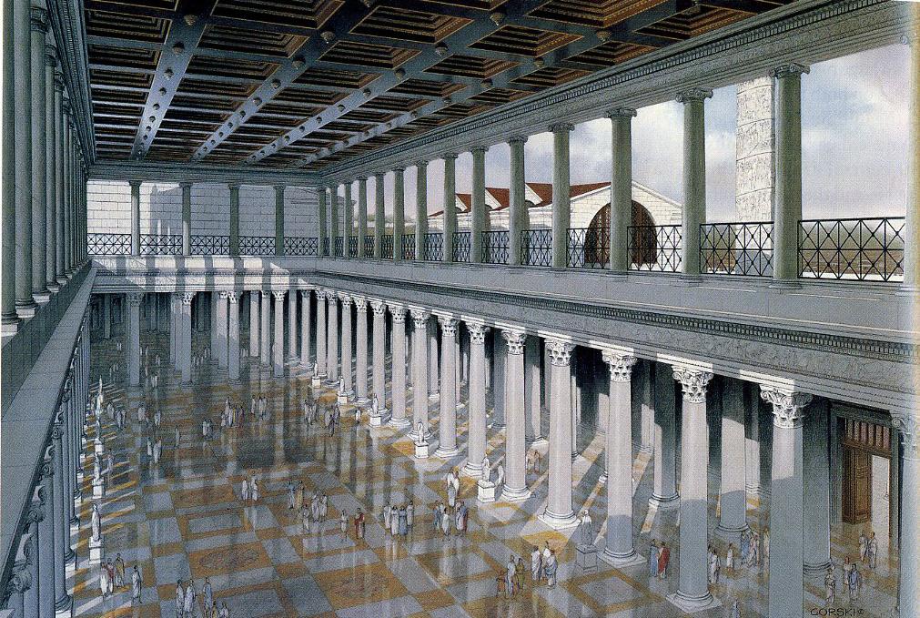 Image result for basilica ulpia reconstruction