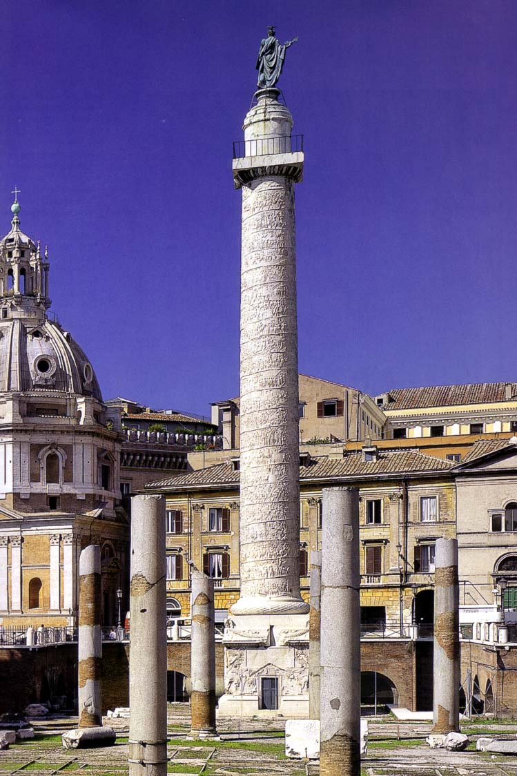 At The Center Of Courtyard Appeared Famous Column Trajan Decorated By A Helical Band