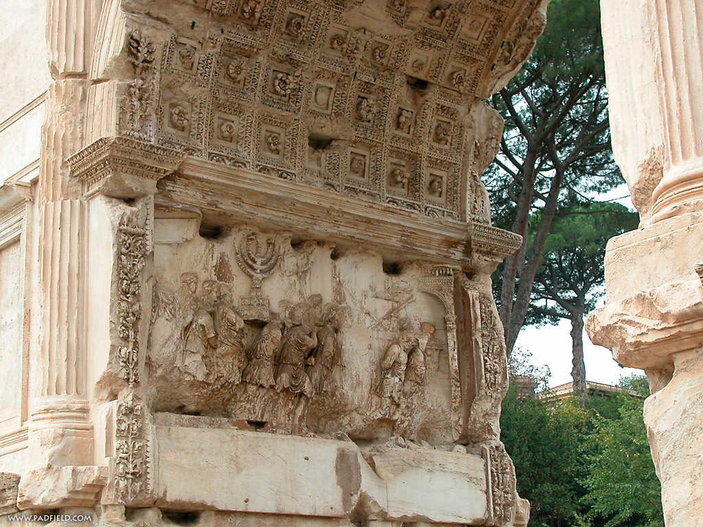 arch of titus Situated at the highest point of the sacra via, the arch of titus (arcus titi) was  erected by domitian sometime after the death of his brother in ad 81,.