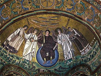 ravenna mosaics of justinian and theodora and their court Theodora: detail from the 6th-century mosaic empress theodora and her court in the basilica of san vitale in ravenna justinian i detail of a contemporary portrait of justinian i in the basilica of san vitale, ravenna.