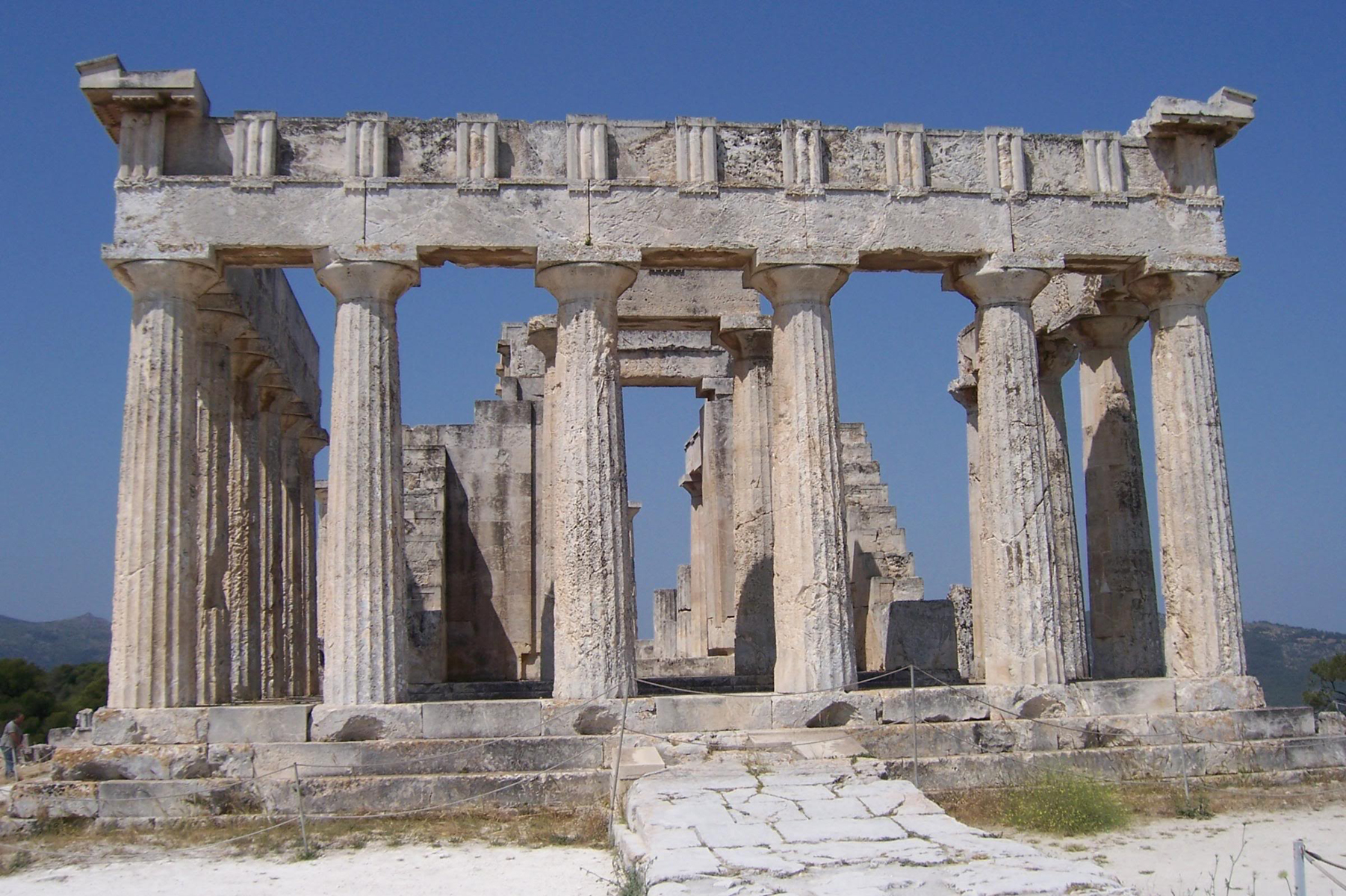 greek architecture temple ancient greece archaic temples structures greeks hera aegina aphaia early basilica solid roman classical architectural paestum arth