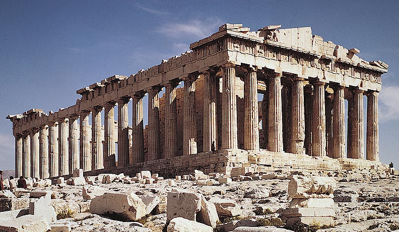 greek parthenon inside going back to ancient greece