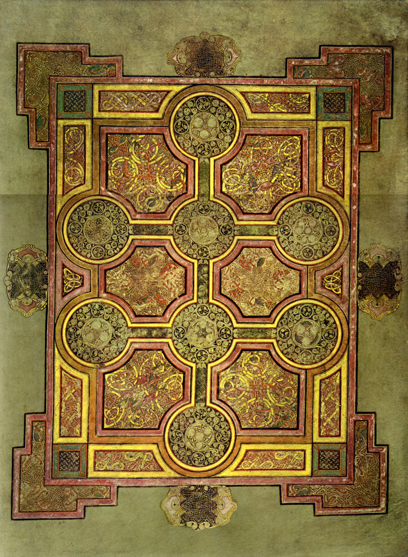Book of Kells Chi Rho Iota Page