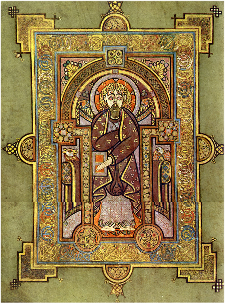 Chi Rho Page From The Book Of Kells The Word Made Flesh