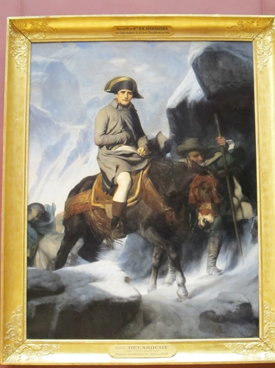 Napoleon Crossing The Saint Bernard Neo-Classical Painting...