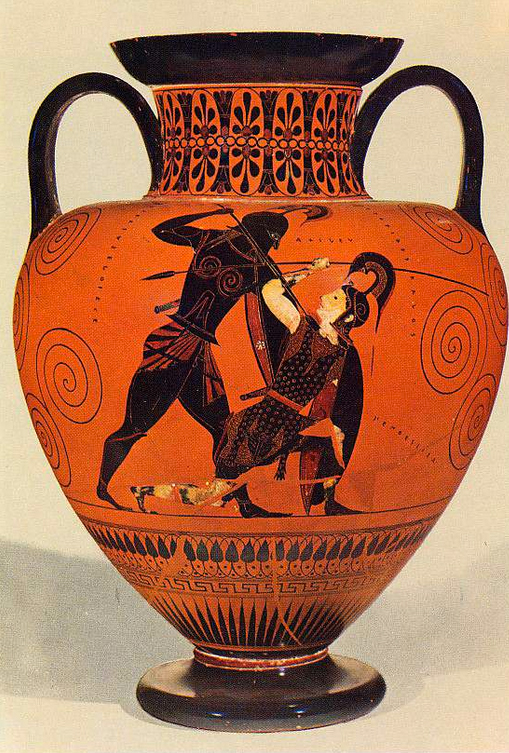 Two-handled jar (amphora) with Achilles and Ajax | Museum