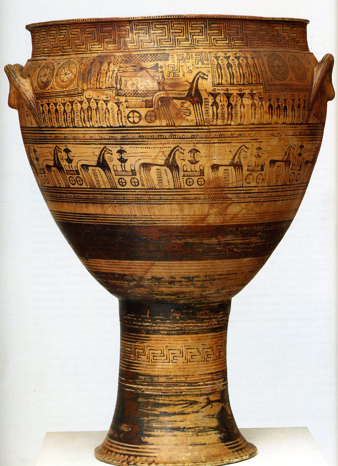prothesis and ekphora in greek geometric art Commemorating the dead in greek geometric art  the first step was the  prothesis, or laying out of the body, usually within the home.