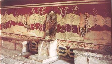 0.2 Les palais mycéniens Knossos_king_thronem