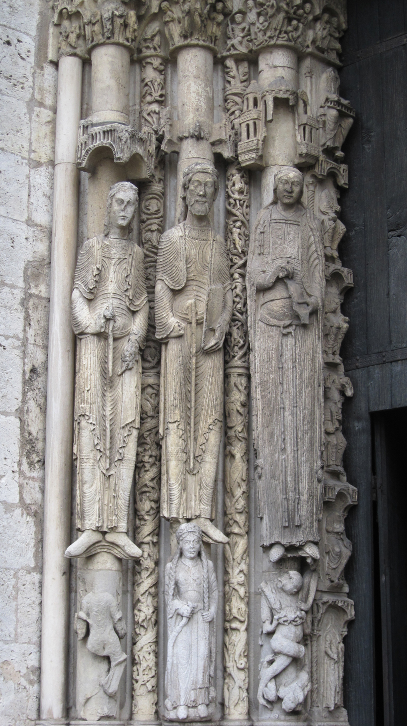 an examination of the gothic sculpture on the example of the cathedral at chartres Study 60 art 114 final flashcards _____ is an excellent example of gothic windows along the aisles and chapels at chartres cathedral included.