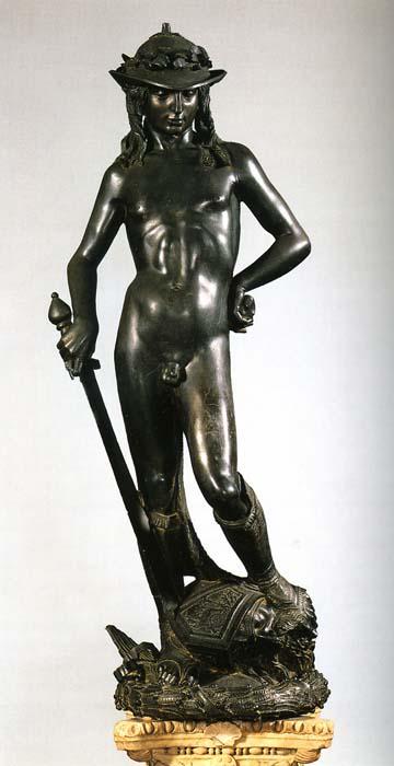 bronze statue of figure