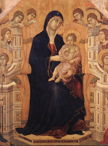 his earlier rucellai madonna and to giotto s ognissanti madonna