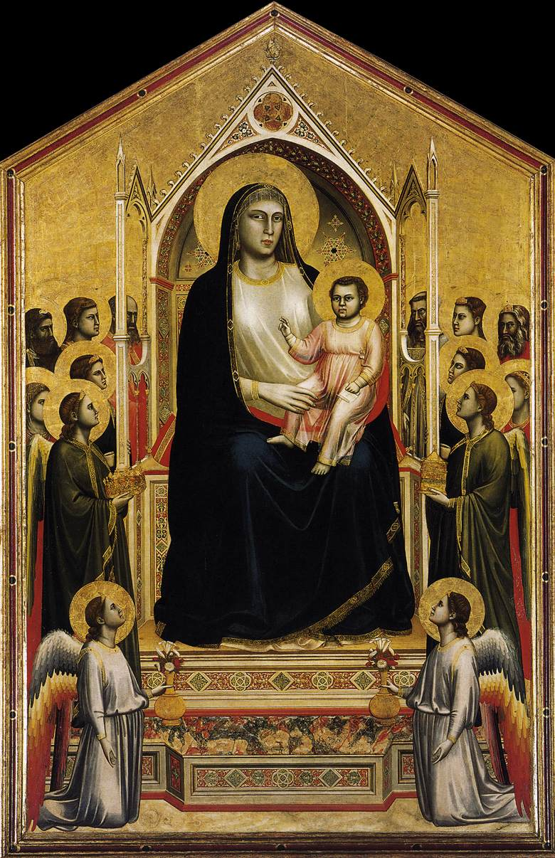 comparison between the enthroned madonna with Madonna in maestà (trinità)  cimabue biography an enthroned mary has her son on her lap  a comparison to his 1280 maest.