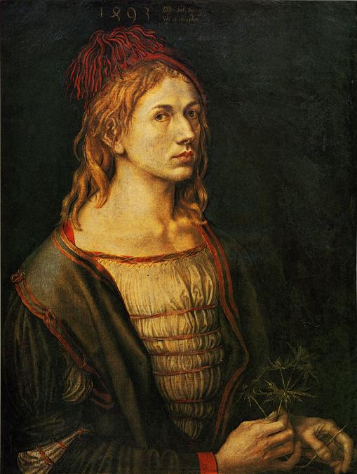 The 1493 self potrait of Albrecht Durer