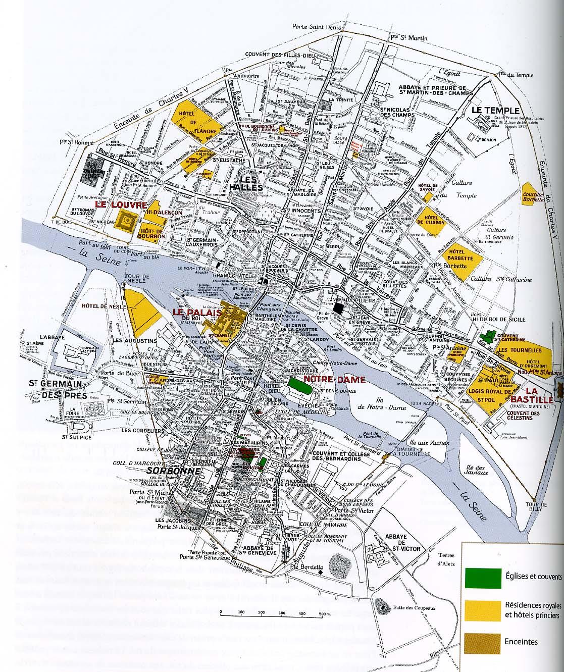 Medieval paris for Paris hotel map