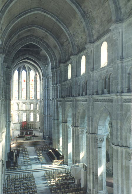Choir Of St Lazare Showing The Articulation Nave Wall With Classicizing Pilasters And Arcades Capitals Are Variations Corinthian
