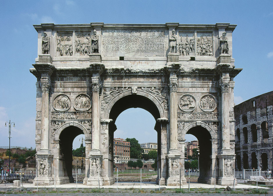 Ancient Roman Domes And Arches Arch of Constantine