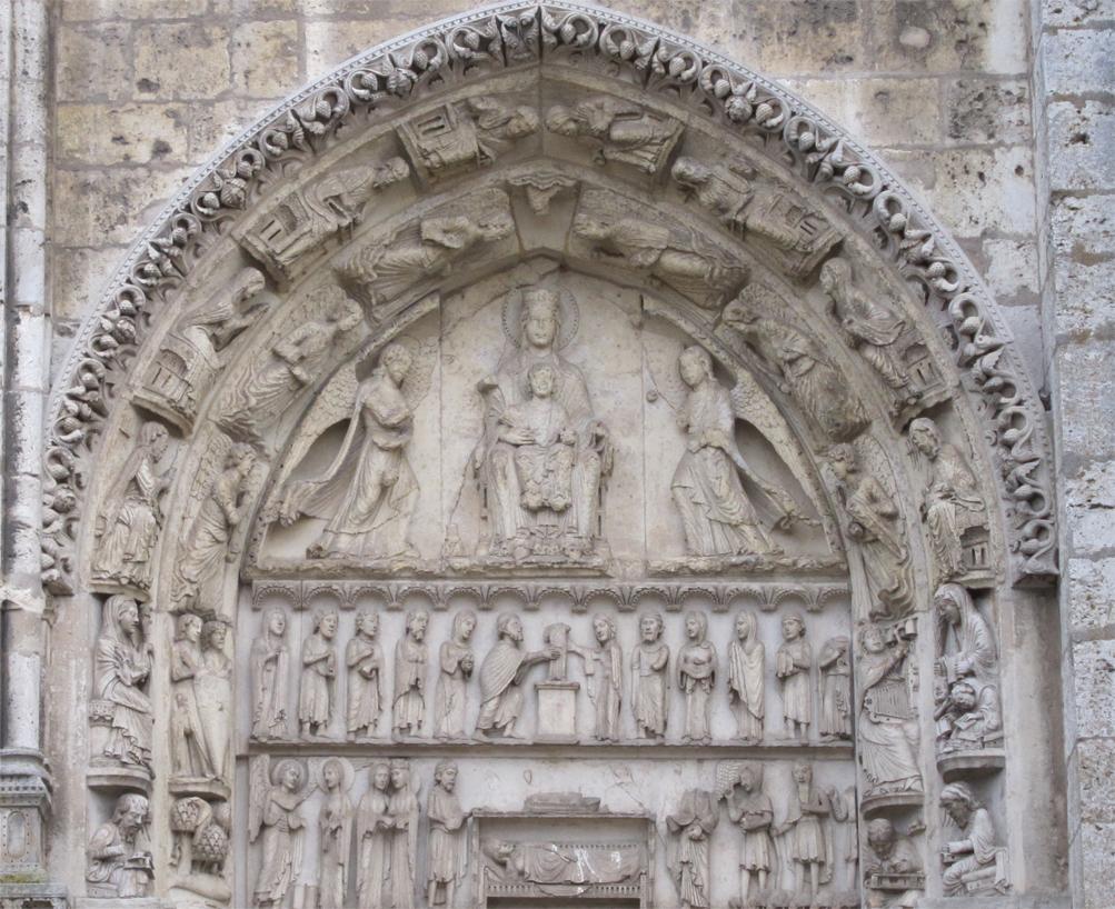 Royal portals of chartres for N portal