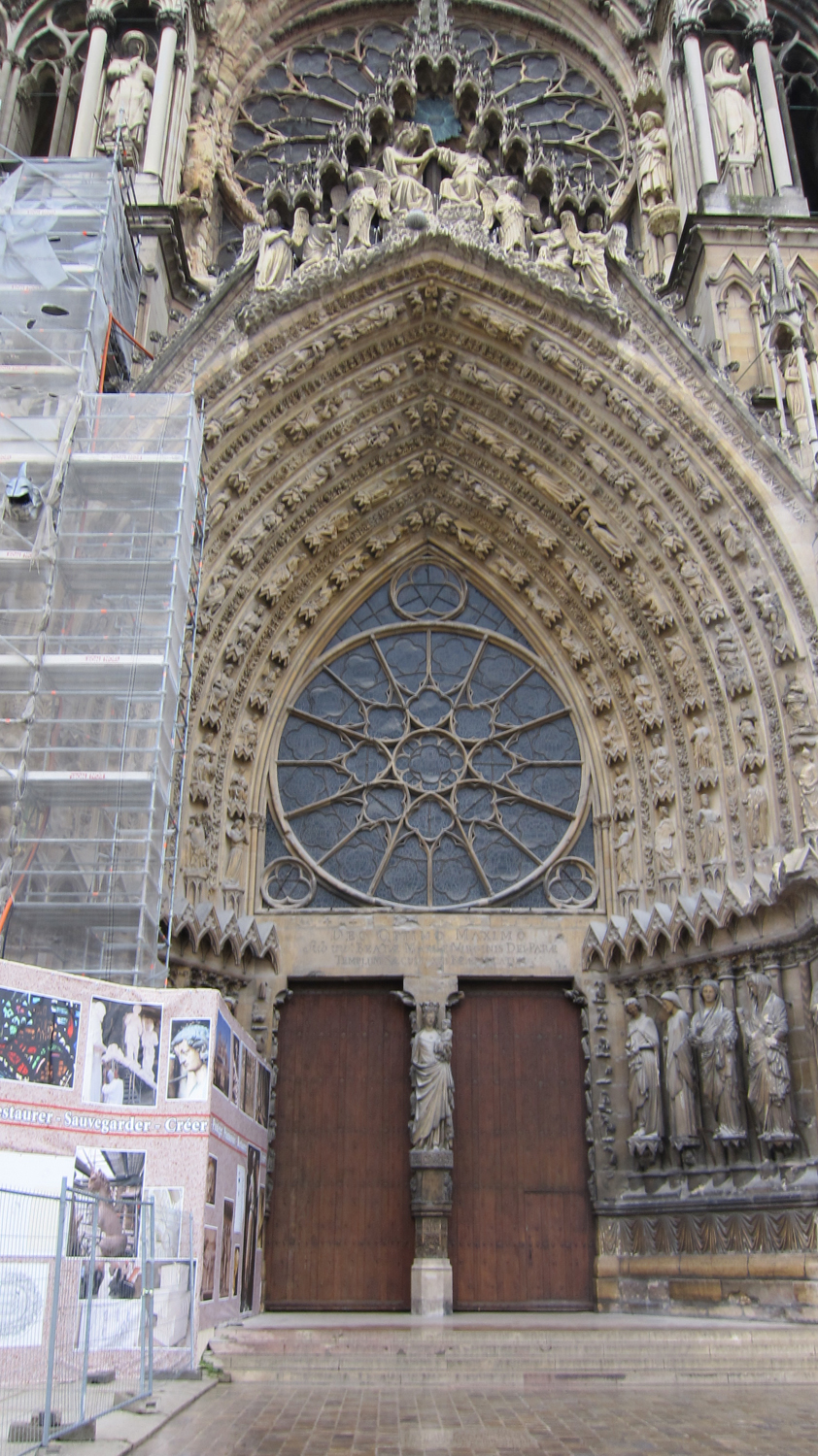 Reims Cathedral Sculpture Facade of Reims Cathedral