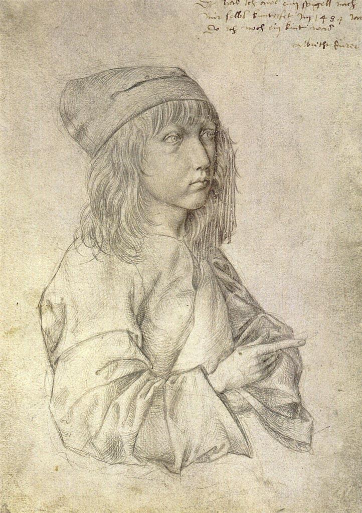 The elder albrecht dürer shown holdinga piece of his goldsmith work