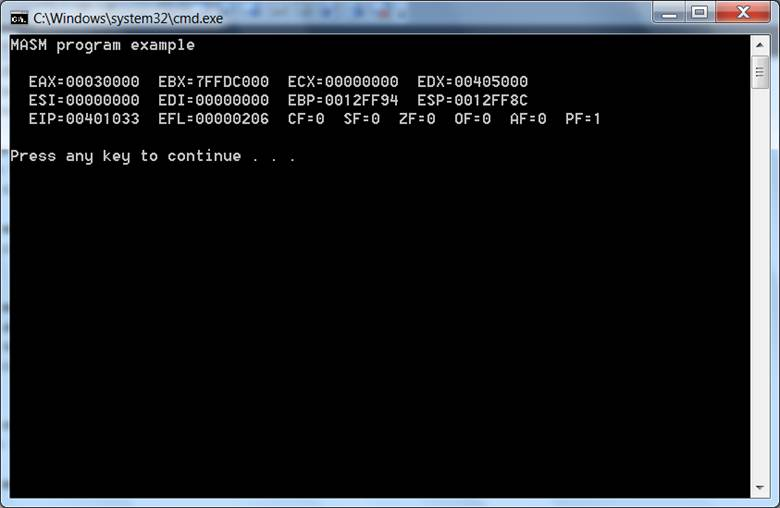 Assembly language for x86 processors.