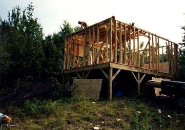 We put the cabin on 6x6 posts built the rest of rough cut for Dennis mill cabin