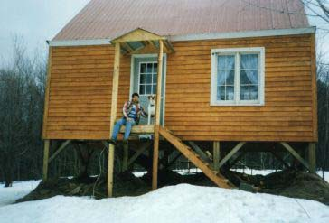 Siding was also done in rough cut here is the finished for Dennis mill cabin