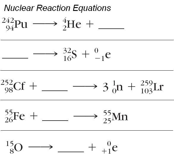 Nuclear Decay Worksheet Answers Chemistry 005 - Nuclear Decay Worksheet Answers Chemistry